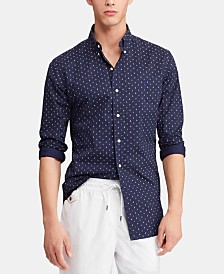 Polo Ralph Lauren Men's Classic-Fit Poplin Print Shirt