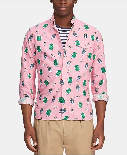 ed067481 Polo Ralph Lauren Men's Classic-Fit Bear Shirt & Reviews - Casual ...