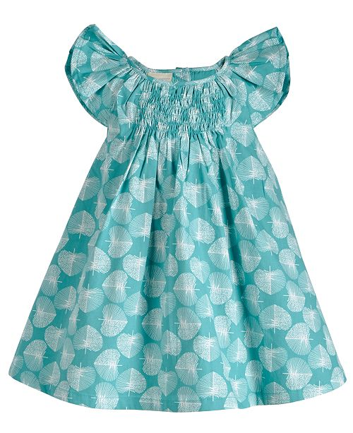 First Impressions Baby Girls Leaf Dress, Created for Macy's