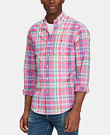 Polo Ralph Lauren Men's Slim-Fit Stretch Oxford Shirt, Created for Macy's