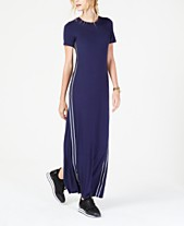 MICHAEL Michael Kors MKGO Stripe-Tape Seamed Maxi Dress 6e97cdf4b