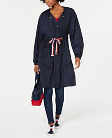 Tommy Hilfiger Drawstring-Waist Utility Jacket, Created for Macy's