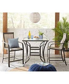 Reyna Outdoor Aluminum 5-Pc. Bar Set (Bar Table & 4 Bar Chairs), Created For Macy's