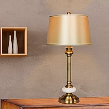 """1580 30"""" Antique Glass Table Lamp"""