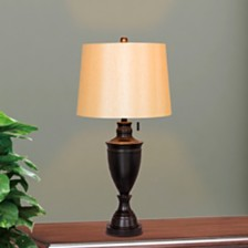 "Fangio Lighting's 1587BZ 31"" Classic Urn Metal Table Lamp"