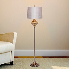 "Fangio Lighting's 1595 61.5"" Brushed Steel And Mercury Glass Font Floor Lamp"