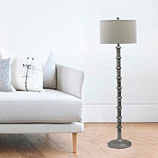 "1597AS 63"" Antique Metal Stacked Floor Lamp"