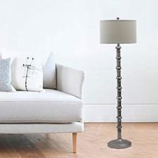 "1597AS 63"" Antique Metal Stacked Floor Lamp"
