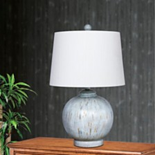 "Fangio Lighting's 6254BLU 24"" Weathered Round Resin Table Lamp"