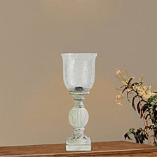 """Fangio Lighting's 6260 18"""" Antique Resin And Crackle Glass Uplight"""
