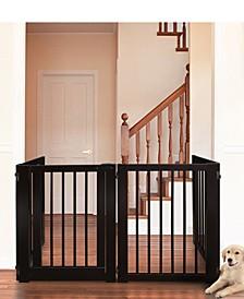 Free Standing Pet Gate with Door