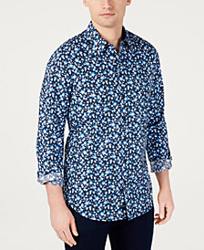 DKNY Men's Floral Graphic Shirt