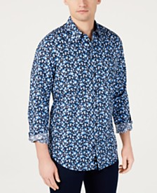 DKNY Men's Floral Graphic Shirt