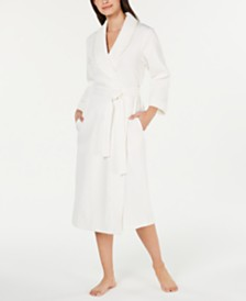 Charter Club Textured Soft Knit Long Cotton Robe, Created for Macy's