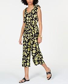 MICHAEL Michael Kors Floral-Print Belted Jumpsuit