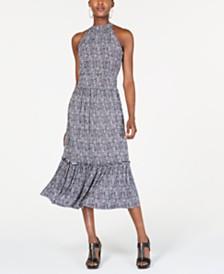 MICHAEL Michael Kors Smocked Halter Midi Dress, Regular & Petite