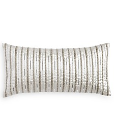 "Hotel Collection Silverwood 12"" x 24"" Decorative Pillow, Created for Macy's"