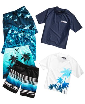 Toddler Boys Shark-Print Swim Trunks, Created for Macy's