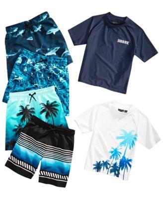 b3790c8e46 Ideology Little Boys Shark-Print Swim Trunks, Created for Macy's ...