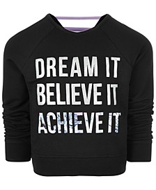 Little Girls Dream It Graphic Sweatshirt, Created for Macy's