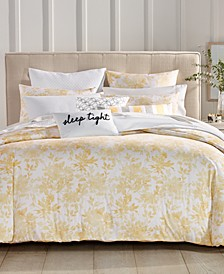 CLOSEOUT! Watercolor Leaf Duvet Cover Sets, Created for Macy's