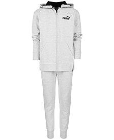 Puma Big Boys Fleece Full-Zip Hoodie & Jogger Pants Separates