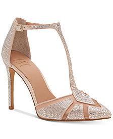 I.N.C. Women's Karsyn T-Strap Evening Sandals, Created for Macy's