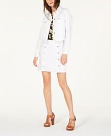 MICHAEL Michael Kors Logo-Button Denim Jacket & Skirt