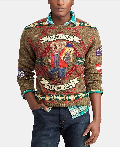 21de92755e386 ... Polo Ralph Lauren Men s Great Outdoors Hiking Bear Sweater ...