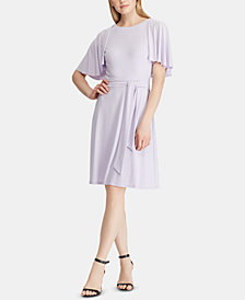 Lauren Ralph Lauren Petite Flutter-Sleeve Dress