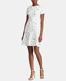 Lauren Ralph Lauren Petite Printed Crepe Dress