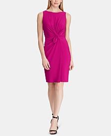 Lauren Ralph Lauren Petite Ruched Jersey Dress