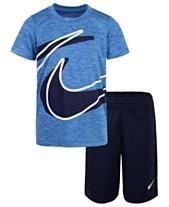 new arrivals 149f5 85fbc Nike Little Boys 2-Pc. Dropset T-Shirt  Shorts Set