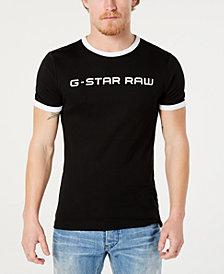 G-Star RAW Men's Rodis Logo Graphic Ringer T-Shirt, Created for Macy's
