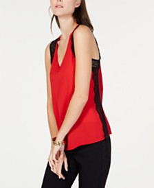 I.N.C. Contrast-Lace Tank Top, Created for Macy's