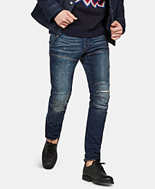 G-Star RAW Men's 5620 3D Slim Fit Ripped Moto Jeans