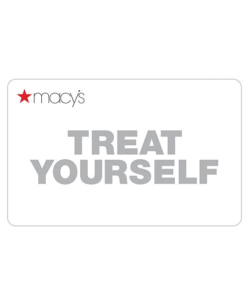 Macy's Treat Yourself Card with Letter