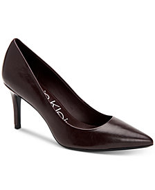 Calvin Klein Women's Gayle Varnished Crackle Pumps