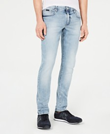 A|X Armani Exchange Men's Light Acid Wash Jeans
