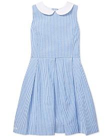 Polo Ralph Lauren Big Girls Seersucker Fit & Flare Cotton Dress