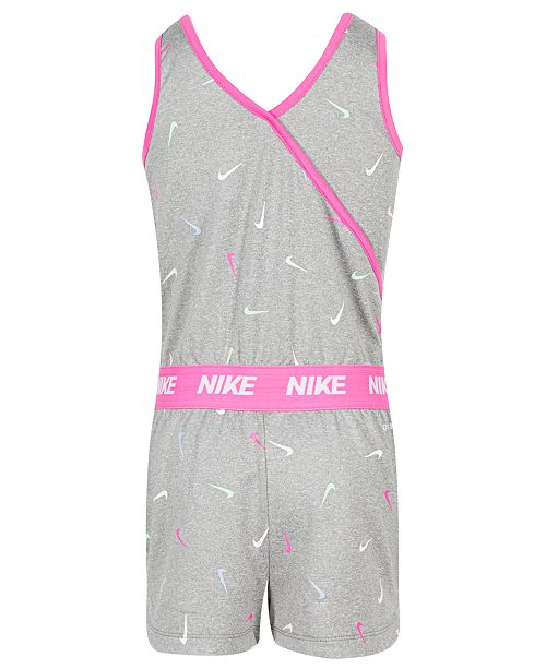 d4328767ab2b Nike Toddler Girls Swooshfetti-Print Reversible Romper   Reviews ...