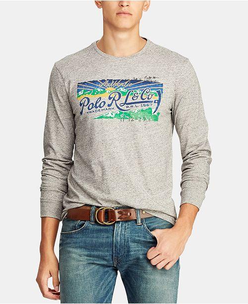 c7c0daa9b5d4 ... Polo Ralph Lauren Men s Great Outdoors Custom Slim Fit Long Sleeve T- Shirt ...