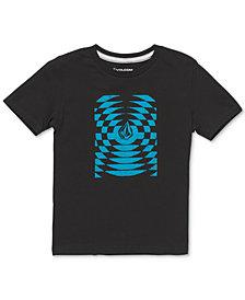 Volcom Little Boys Check Wreck Logo T-Shirt