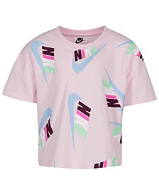 Nike Little Girls Futura Logo Crop Top
