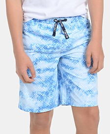 Calvin Klein Big Boys Geo-Print Volley Swimsuit