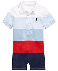Polo Ralph Lauren Baby Boys Striped Cotton Rugby Shortall