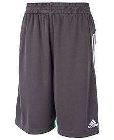 adidas Big Boys Three-Stripe Speed Shorts
