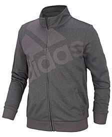 adidas Big Girls Heathered Tricot Logo Track Jacket