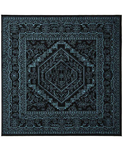 Safavieh Adirondack Black and Teal 6' x 6' Square Area Rug