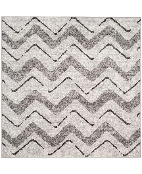 Safavieh Adirondack Silver and Charcoal 6' x 6' Square Area Rug